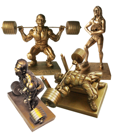 powerlifting trophys, powerlifting awards,powerlifting sculptures,weightlifting trophys