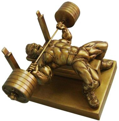 powerlifting trophys,bench press trophys,weightlifting trophys