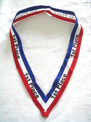 custom neck ribbons,1st place ribbons